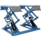 Подъемник ножничный короткий г/п 3000 кг. напольный KraftWell (КНР) арт. KRW3FS/220_blue