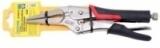 """Зажим гейферный """"утконосы"""" Partner PA-01005L-65 с прорезиненной рукояткой """"profi"""" CR-V 6,5""""-160мм, на пластиковом держателе"""