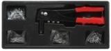 Заклепочник ручной механический Partner PA-T51061(т) с комплектом заклепок (1.2, 1.4, 2, 2.4мм), в лотке