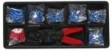 Съемник изоляции+обжимка Partner PA-T52018(т) с комплектом клемм, в лотке
