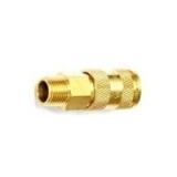 """Быстроразъем пневматический с клапаном Partner с наружной резьбой 1/2"""" (латунь) BSE1-4SM"""
