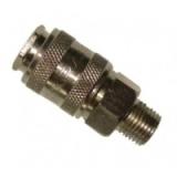 """Быстроразъем пневматический с клапаном Partner с наружной резьбой 1/2"""" SE1-4SM"""