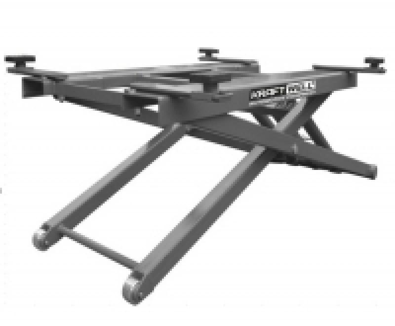 Подъемник ножничный г/п 2700 кг. мобильный KraftWell арт. KRW2.7