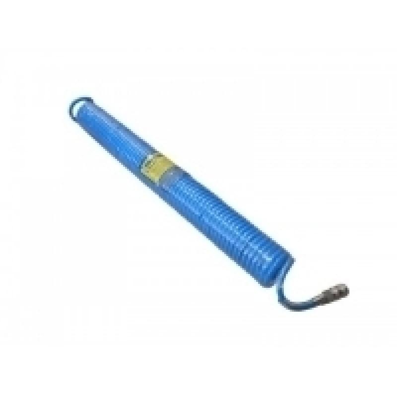 """Шланг витой полиуретановый 6.5мм  х 10мм х15м с быстроразъемными наконечниками 1/4"""""""