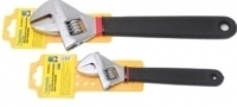 """Ключ разводной Partner PA-02009-10 с противоскользящей рукояткой CR-V 10""""-250мм, на пластиковом держателе"""