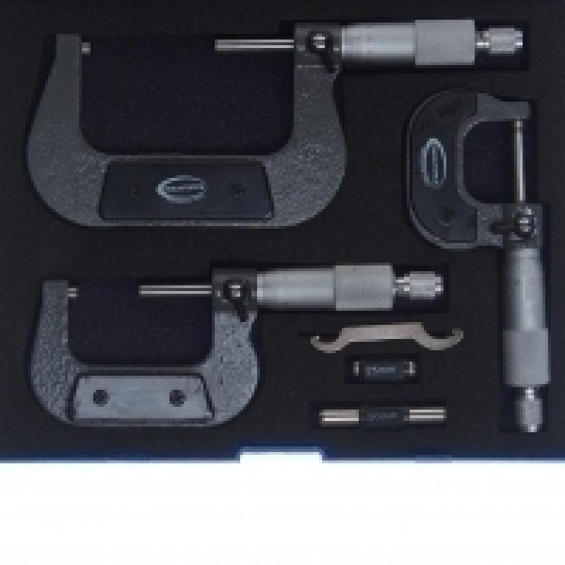 Набор микрометров RF-5096P03, 3пр. (0-25, 25-50, 50-75мм, 0.01мм), в футляре ROCKFORCE /1